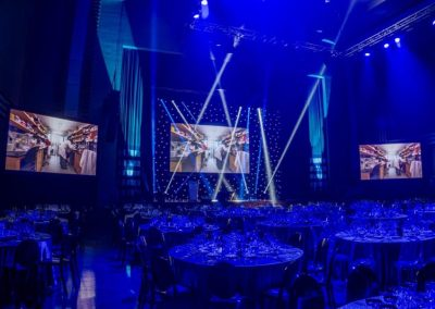 Gala Dinner Audio Visual Set up