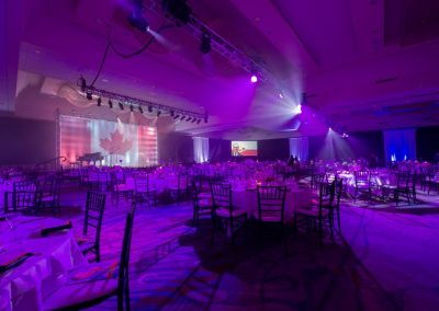 Corporate Fundraiser Audio Visual Set up
