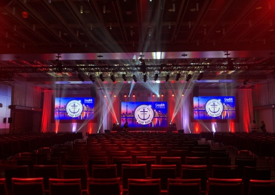 toronto lighting, event set up, event production, audio visual