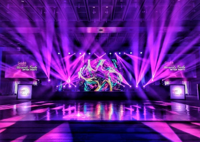 Awards gala, custom audio, dance floor